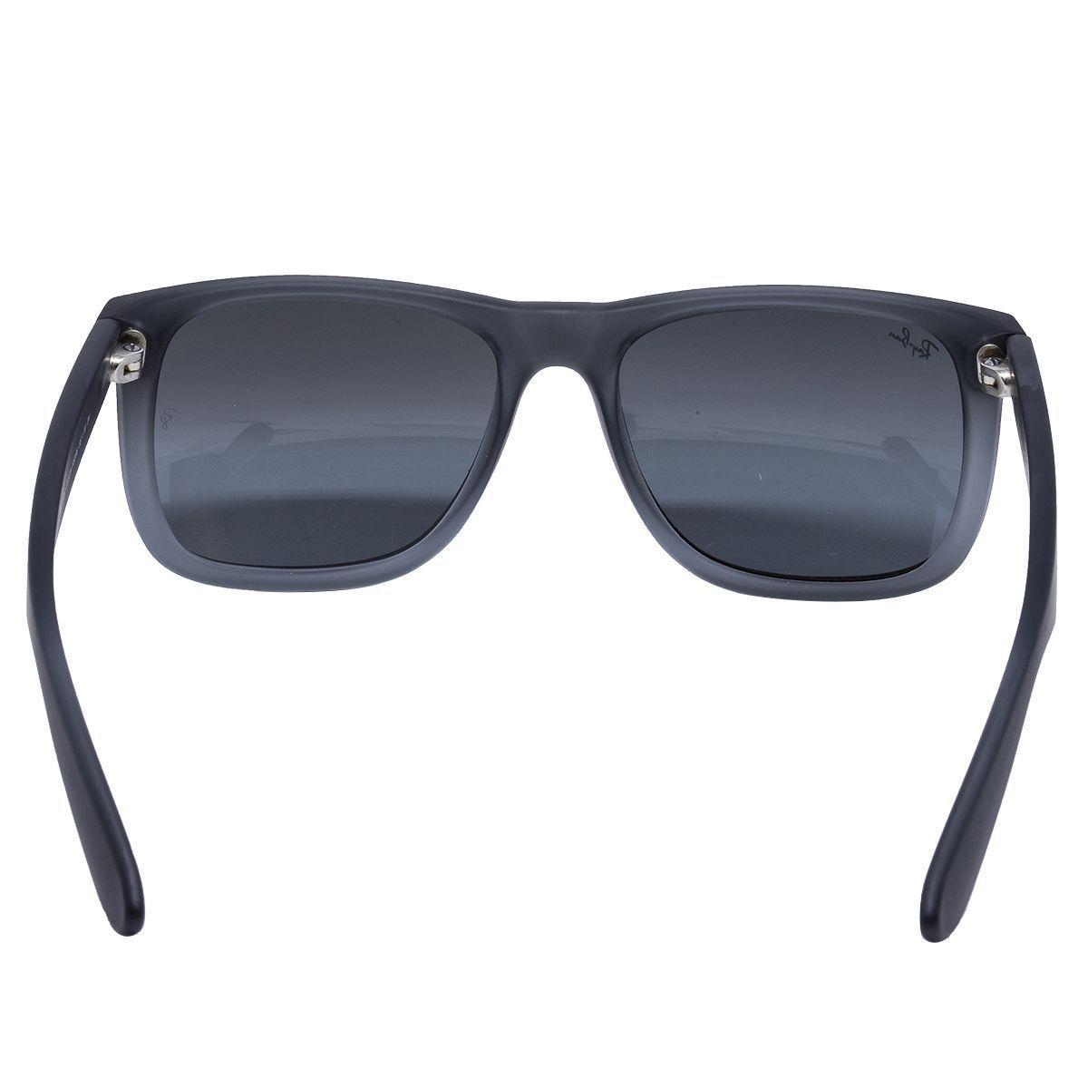 c55aa06d04c90 Óculos de Sol Ray Ban Justin RB4165L 852 88 - Acetato Preto Fosco ...