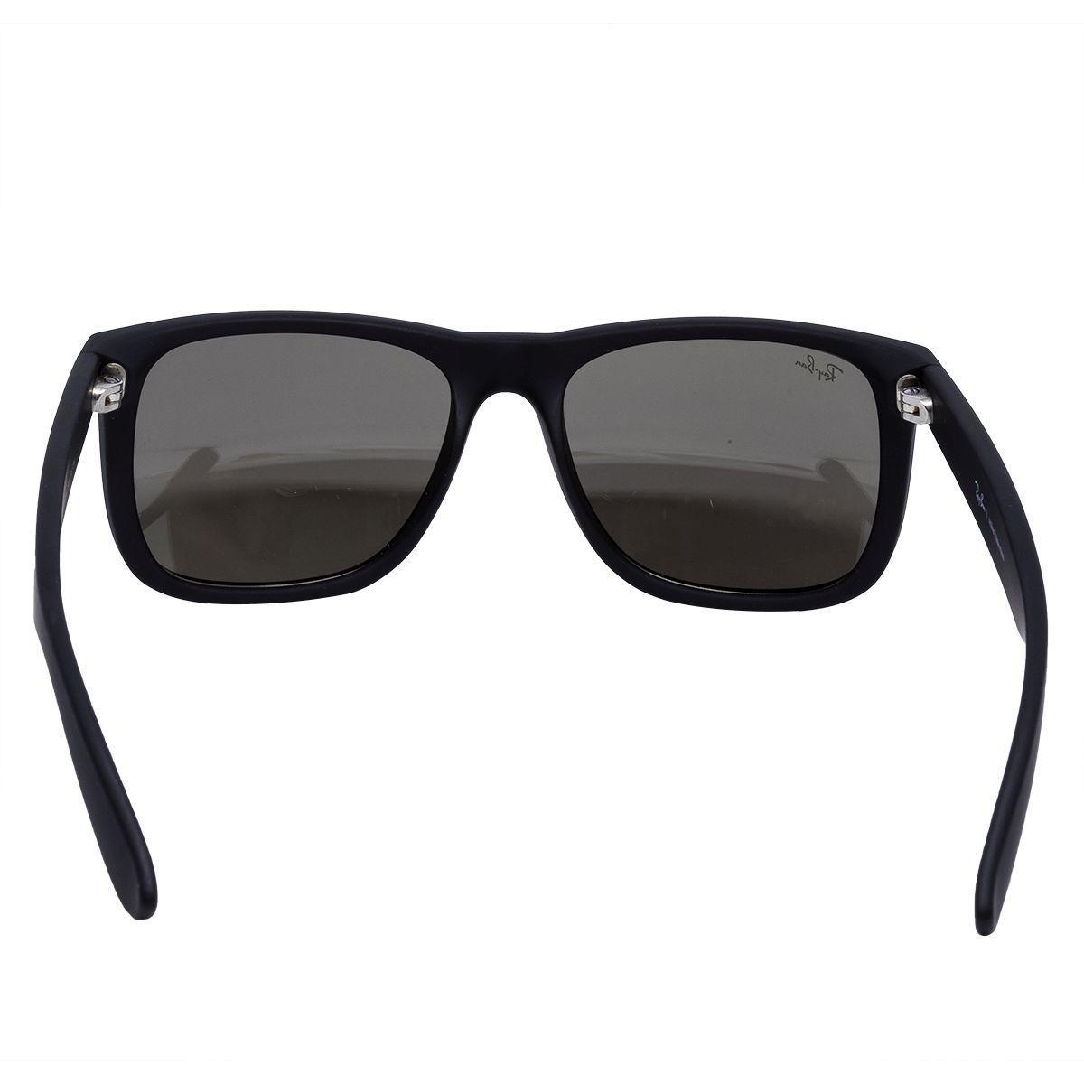 d6550345a Óculos de Sol Ray Ban Justin Rubber Black RB4165 622/5A - Acetato Preto,  Lente Espelhada Dourada R$ 400,00 à vista. Adicionar à sacola
