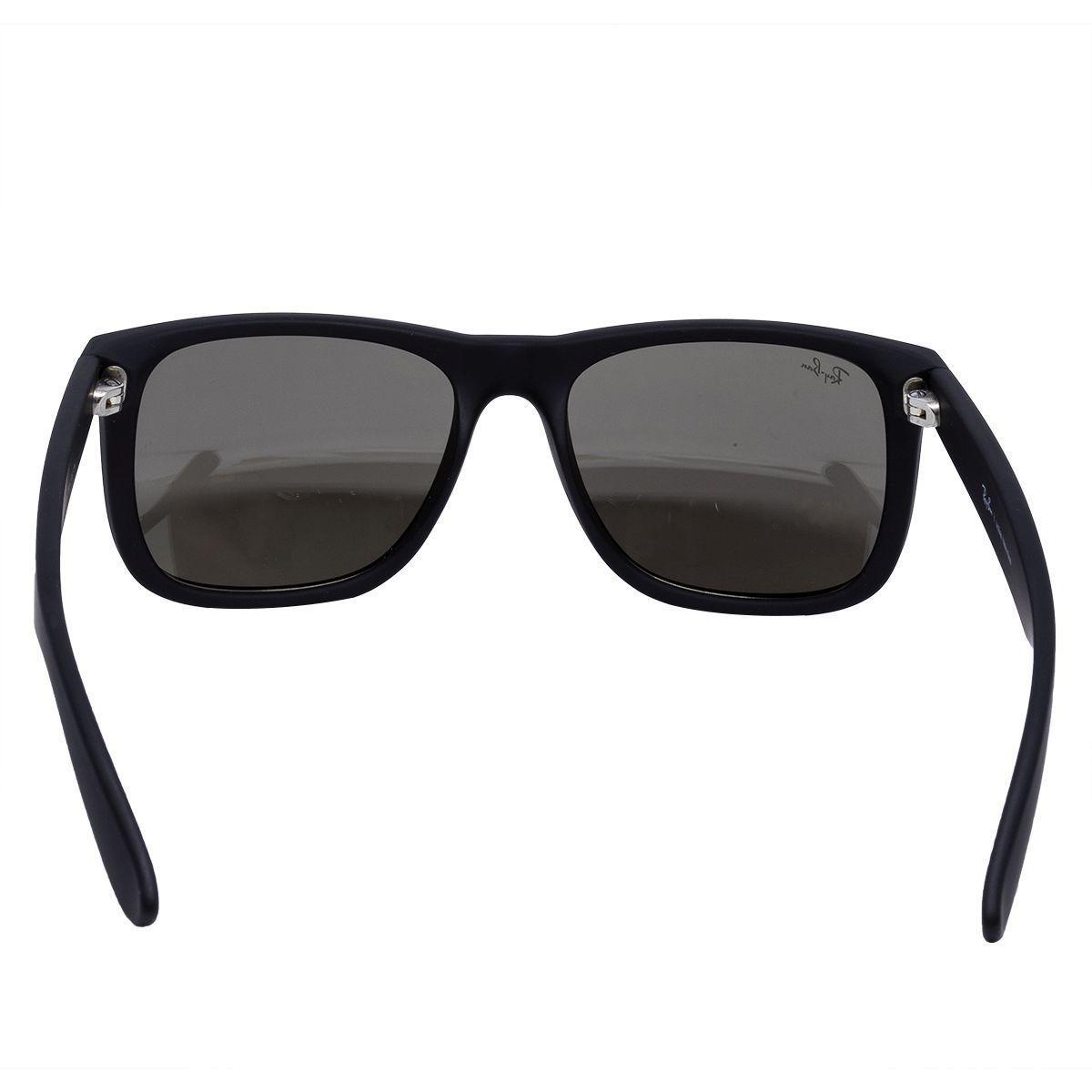 Óculos de Sol Ray Ban Justin Rubber Black RB4165 622 5A - Acetato Preto,  Lente Espelhada Dourada R  506,00 à vista. Adicionar à sacola 9756fbd0ae