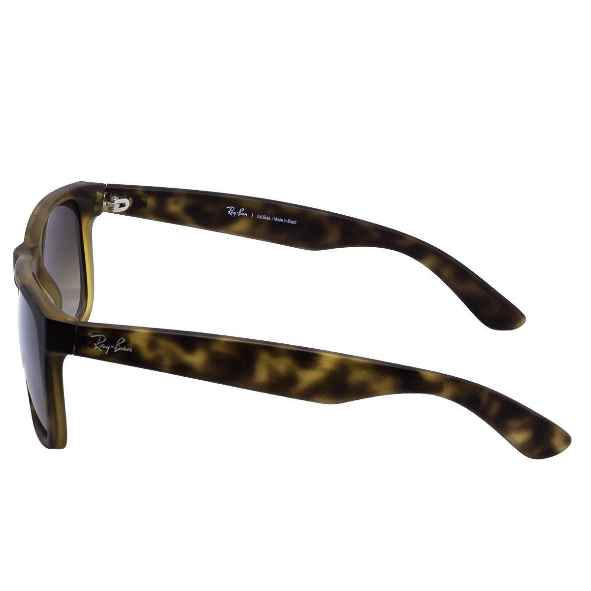 1481b40df8 Óculos de Sol Ray Ban Justin Rubber Matte Havana RB4165 710 13 - Acetato  Tartaruga