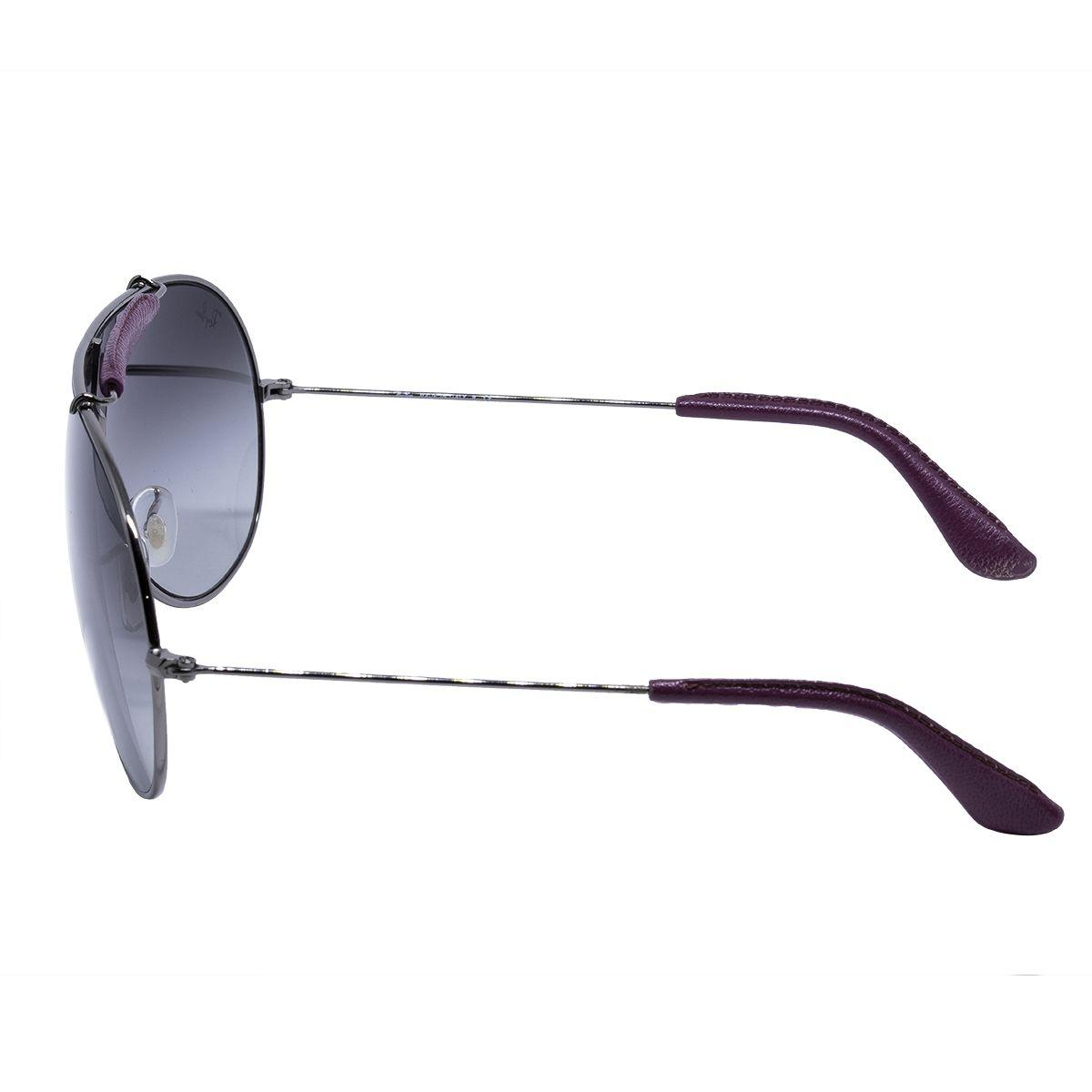 e711d4d83 Óculos de Sol Ray Ban Máscara RB3416Q 110/8G - Metal Prata e Lente Cinza  Degradê R$ 658,00 à vista. Adicionar à sacola