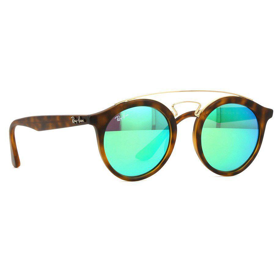 a7fc7f8ada437 Óculos de Sol Ray Ban New Gatsby Round com Lente Verde Espelhada - RB4256  609 23R - Ray-ban Produto não disponível