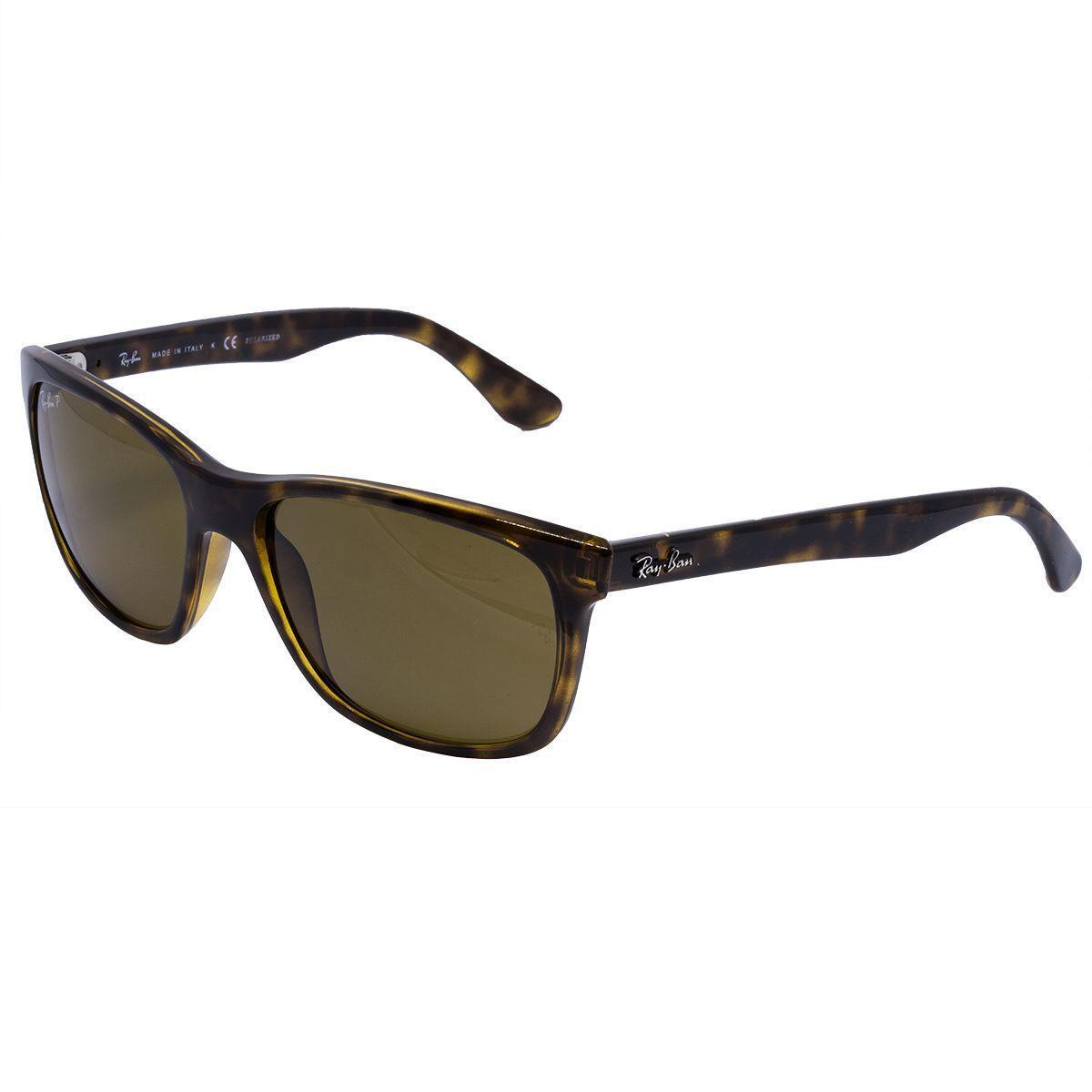 Óculos de Sol Ray Ban Polarizado RB4181 71083 - Acetato Tartaruga ... a5e895e3811ce