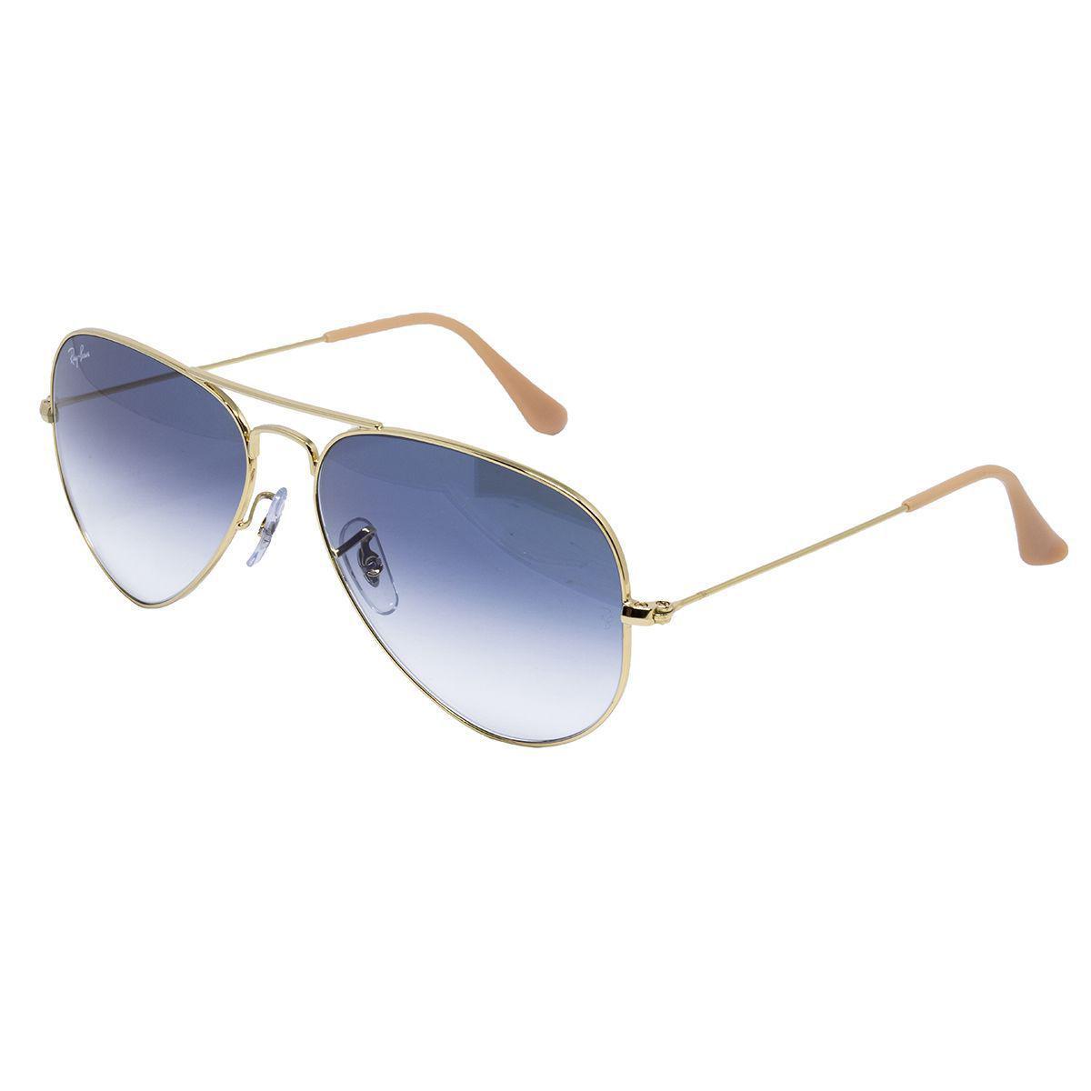 Óculos de Sol Ray Ban RB3025L - Metal dourado, Lente Azul Degradê R  559,00  à vista. Adicionar à sacola 13ef1e3327