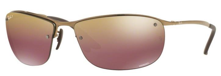 2dea021eb67e7 Óculos de Sol Ray Ban RB3542 Marrom Lente Polarizada Espelhada Chromance -  Ray-ban R  419