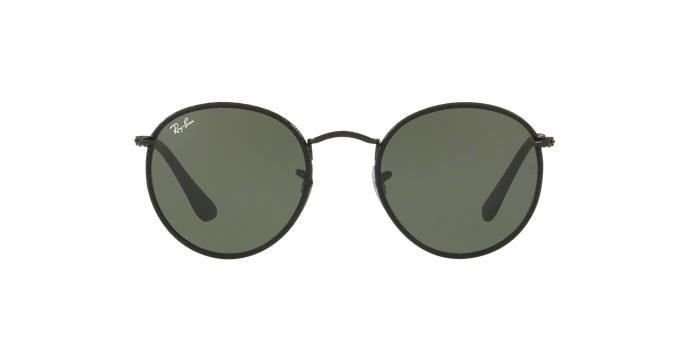 Óculos de Sol Ray Ban Round Craft RB3475Q 9040 Preto Couro Lente Verde Tam  50 - Ray-ban Produto não disponível 449a8a7581