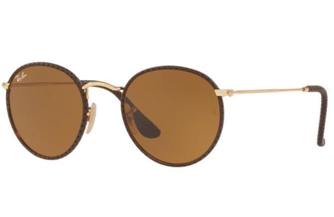 4927fd27b69d8 Óculos de Sol Ray Ban Round Craft RB3475Q 9041 Marrom Couro Lente Marrom  Tam 50 - Ray-ban Produto não disponível