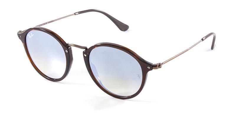 2ac3986e84193 Óculos de Sol Ray Ban Round Fleck RB2447N Flat Marrom Lente Espelhada Prata  - Ray-ban Produto não disponível