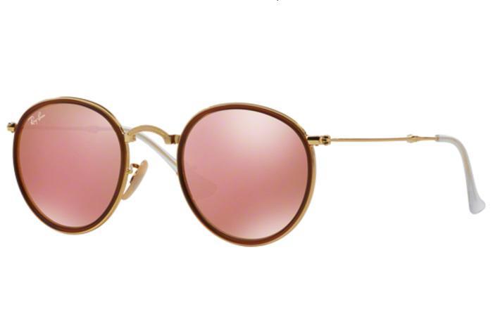 Óculos de Sol Ray Ban Round Folding RB3517 001Z251 Ouro Lente Rosa Espelhada  - Ray-ban R  509,99 à vista. Adicionar à sacola 791814cb72