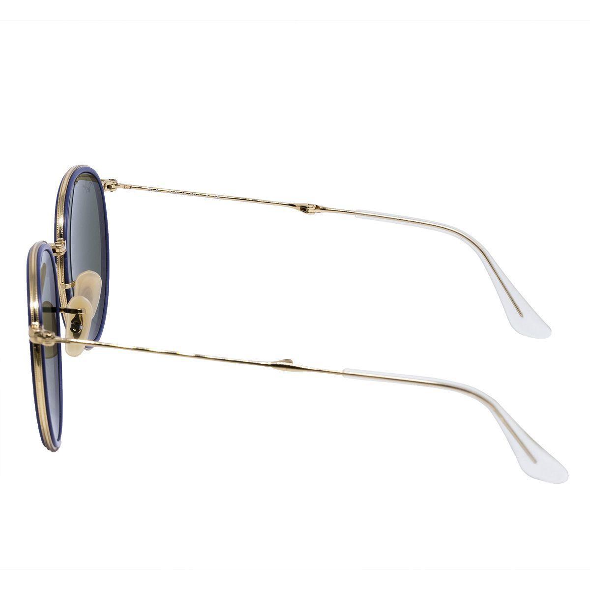 d54e9e6ca Óculos de Sol Ray Ban Round Gold Dobrável RB3517 - Metal Dourado ...
