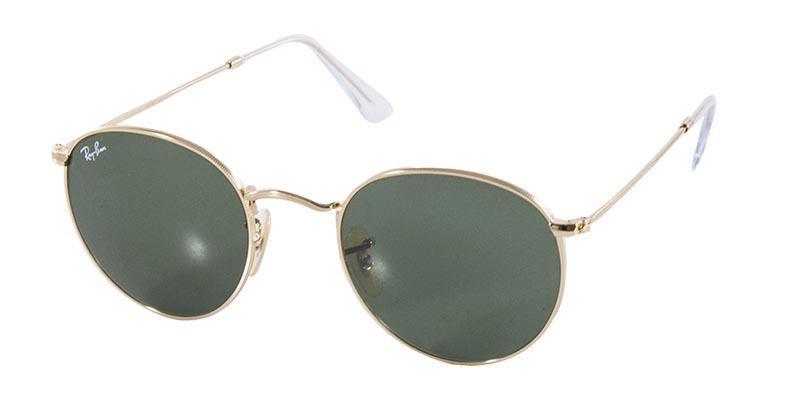 0eb86c26ce936 Óculos de Sol Ray Ban Round Metal RB3447 001 Ouro Lente Verde G15 Tam 50 -  Ray-ban R  434