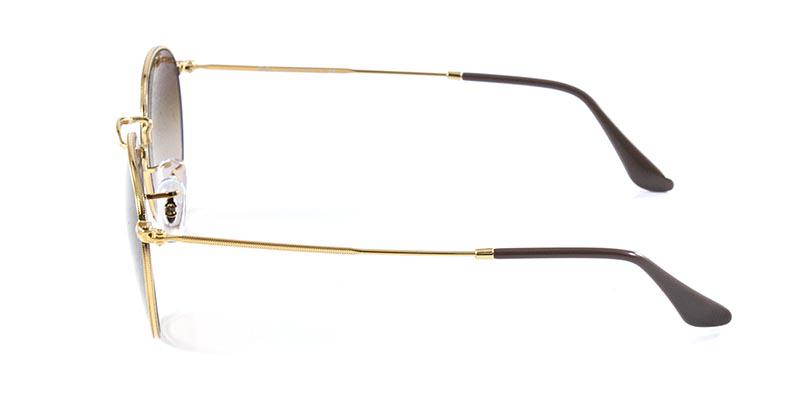 17786da4653af Óculos de Sol Ray Ban Round Metal RB3447 Ouro Lente Marrom Degradê Lentes 53  - Ray-ban Produto não disponível