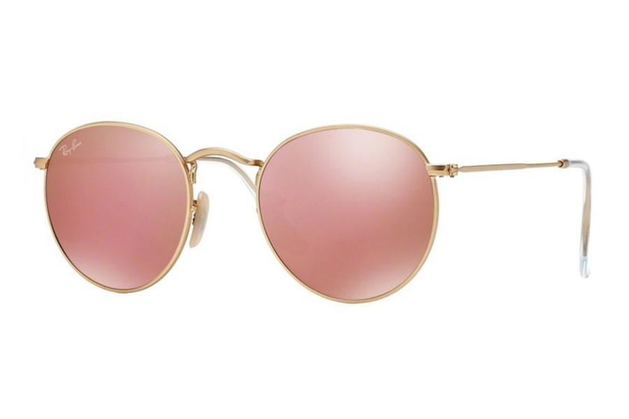 Óculos de Sol Ray Ban Round Metal RB3447 Ouro Lente Rosa Espelhada Tam 50 -  Ray-ban Produto não disponível 46f5141113
