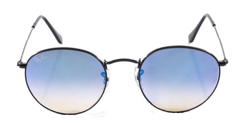Óculos de Sol Ray Ban Round Metal RB3447 Preto Lente Azul Espelhada - Ray- ban Produto não disponível 1b9131d539