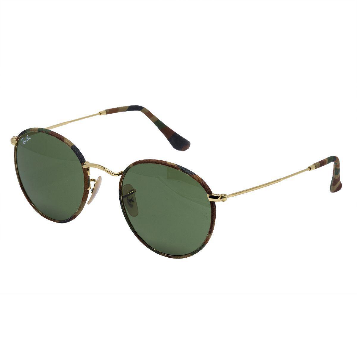 d7b65d3c20a43 Óculos de Sol Ray Ban Round Metal Unissex RB3447 - Metal e Tecido Militar