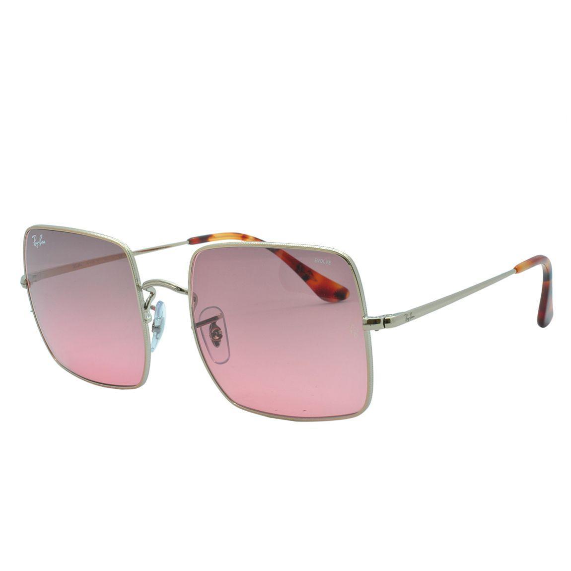fd6b71ef2 Óculos de Sol Ray Ban Square Evolve Feminino RB1971 9151AA54 - Metal Rosé e  Lente Rosa R$ 635,00 à vista. Adicionar à sacola