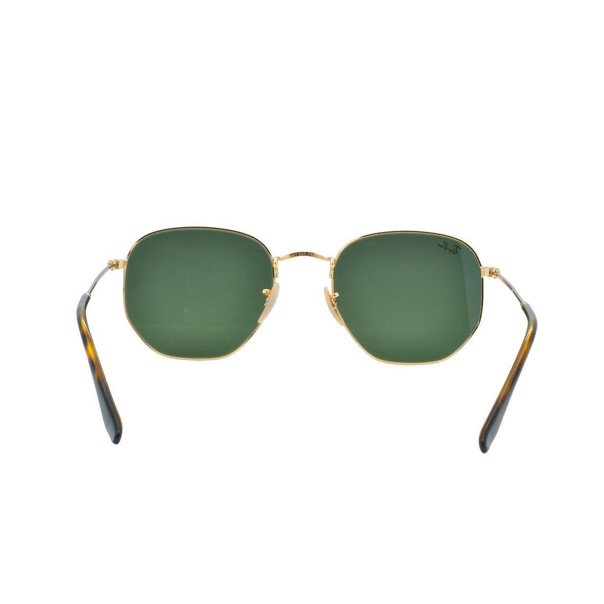 cd6dfc29020fb Óculos de Sol Ray Ban Unissex Hexagonal RB3548N 001 54 - Metal Dourado R   532