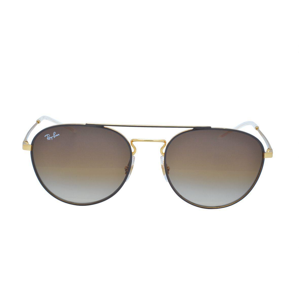 469164da2 Óculos de Sol Ray Ban Unissex RB3589 90551355 - Metal Dourado e Lente  Marrom Degradê R$ 532,00 à vista. Adicionar à sacola