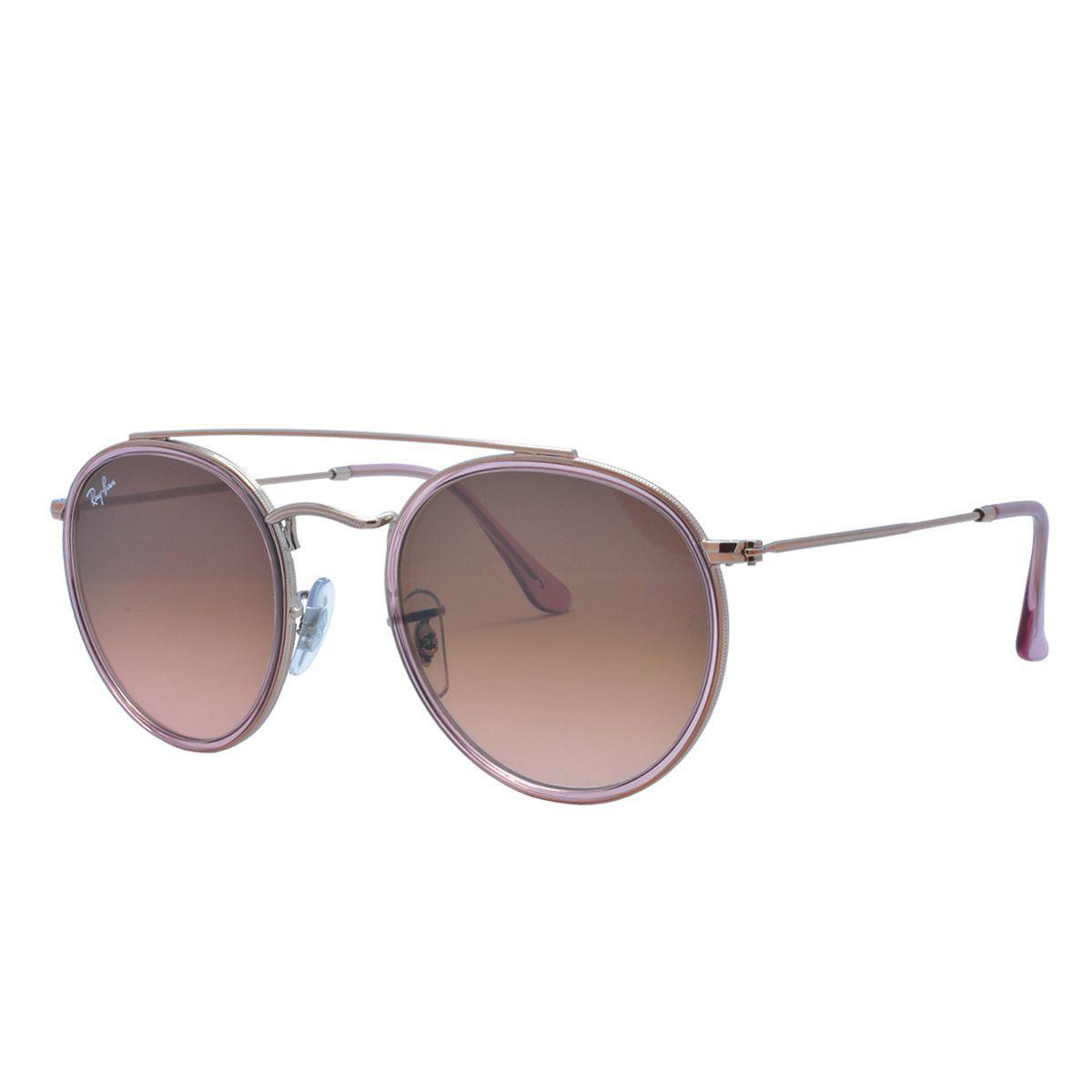5ee3bf8be Óculos de Sol Ray Ban Unissex RB3647N Pink - Metal Rosé, Lente Marrom  Degradê R$ 626,00 à vista. Adicionar à sacola