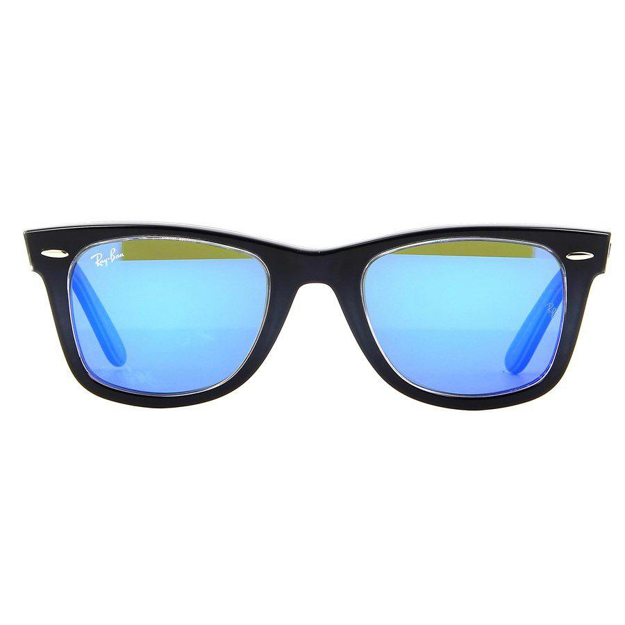 abe8d64df6651 Óculos de Sol Ray Ban Wayfarer Azul Escuro com Lente Azul Espelhada -  Ray-Ban Produto não disponível