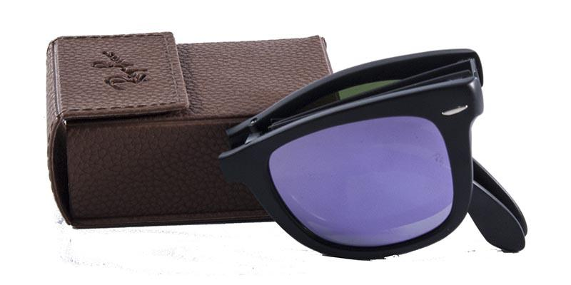 e424625ce Óculos de Sol Ray Ban Wayfarer Folding RB4105 Preto Fosco Lente Rosa - Ray- ban Produto não disponível