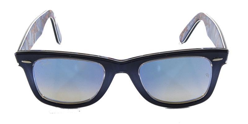 5542f4f95a18a Óculos de Sol Ray Ban Wayfarer RB2140 Cinza e Azul Lente Azul Espelhada -  Ray-ban Produto não disponível