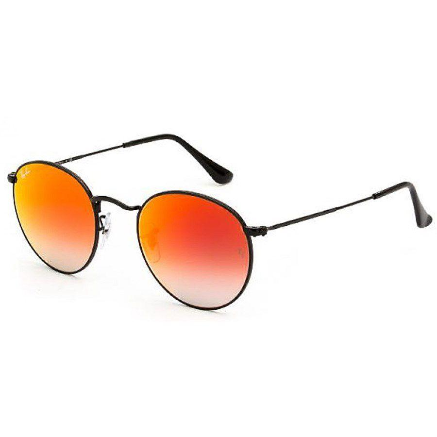 Óculos de Sol Round Metal Preto com Lente Vermelha - RB34470024W - Ray-Ban  Produto não disponível c3c8096a98