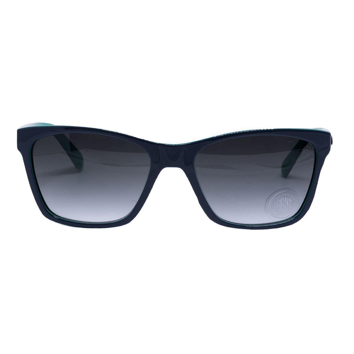 75e38d87d59e2 Óculos de Sol Secret Sophia Feminino 80036679 - Acetato Verde e Lente  Degradê Cinza R  130