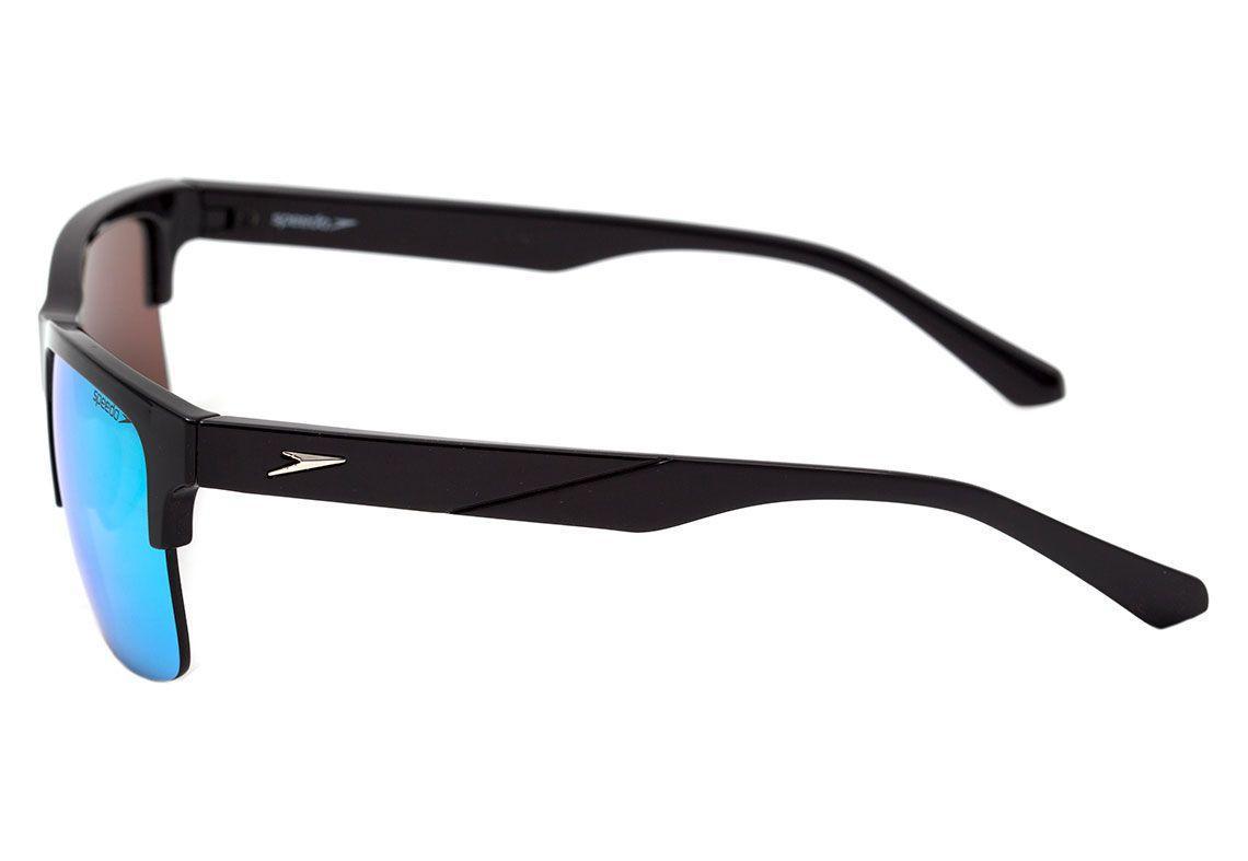 c59d248799501 Óculos de Sol Speedo Trinidad A02 Preto Azul Espelhado - Óculos de ...