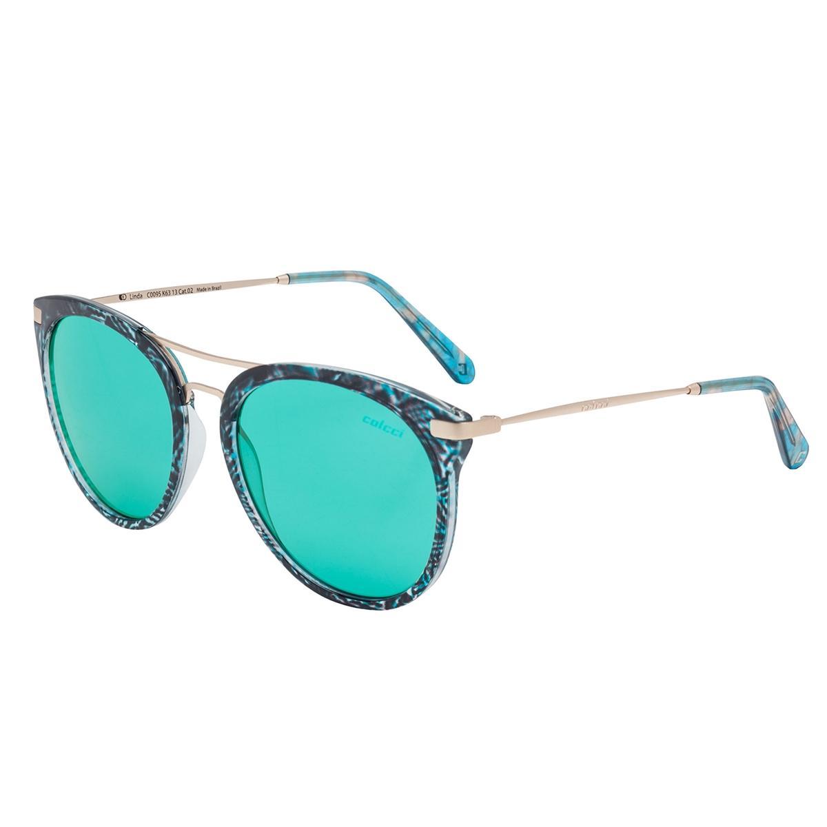 Óculos De Sol Verde Turquesa E Preto Com Dourado C0095K6313 Colcci R   339,00 à vista. Adicionar à sacola be4eb49a8c