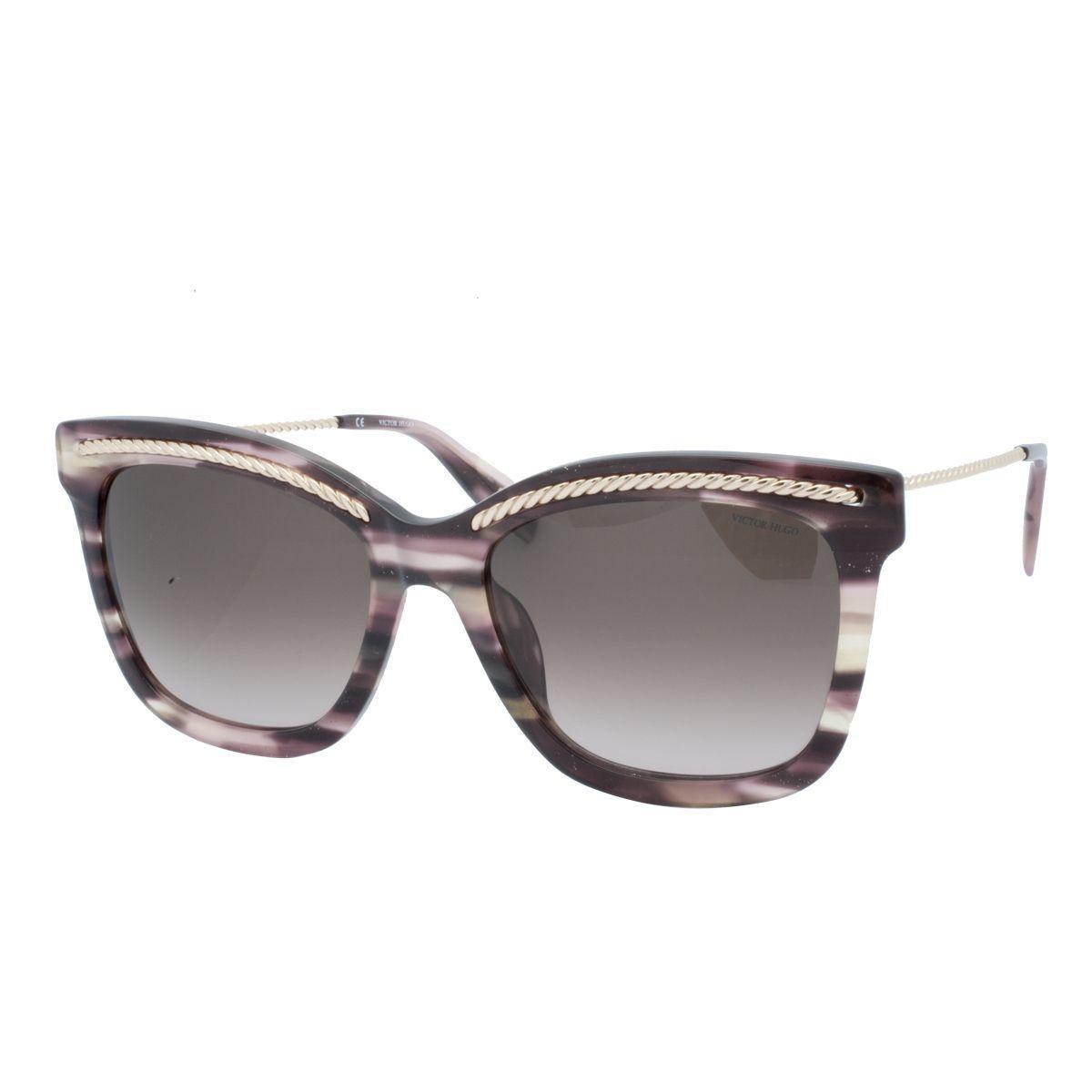 f794984e5 Óculos de Sol Victor Hugo Feminino SH1774 0D00 - Acetato Marrom Mescla e  Lente Marrom Degradê R$ 983,00 à vista. Adicionar à sacola