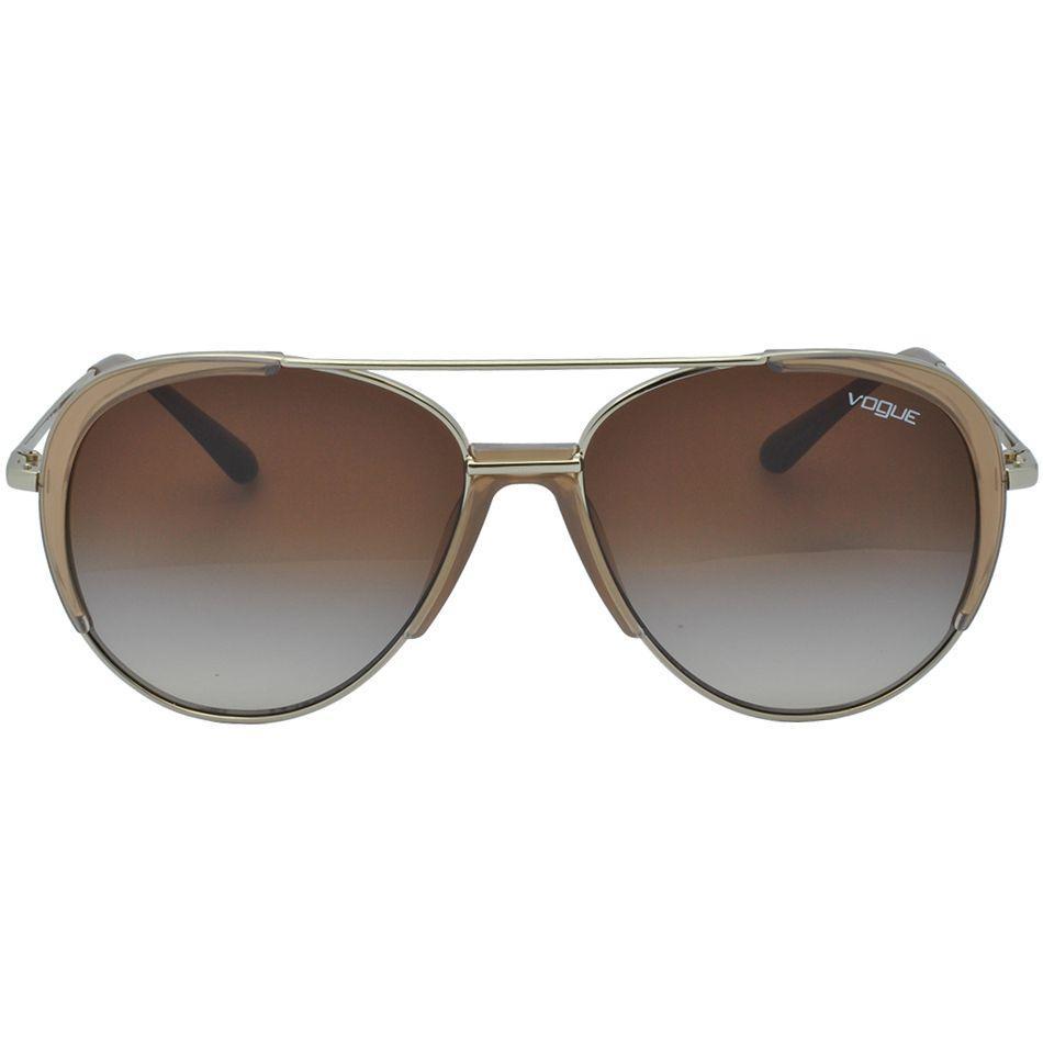 Óculos de Sol Vogue Aviador Feminino VO4097S 848 13 - Metal Dourado e Lente  Marrom R  456,00 à vista. Adicionar à sacola 6a805d863b