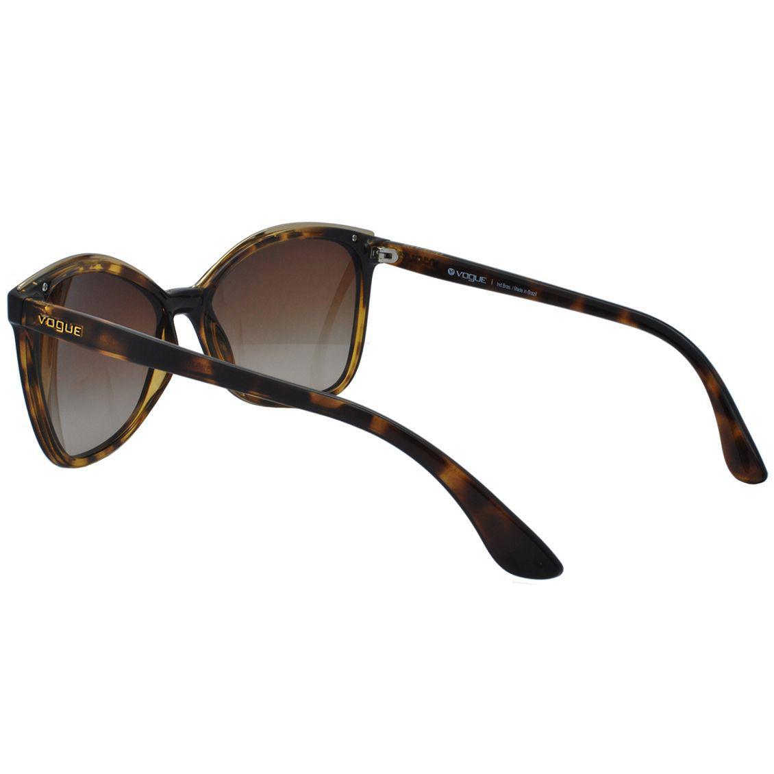 215ff5ff2 Óculos de Sol Vogue Feminino VO5159SL W65613 - Acetato Tartaruga Marrom e  Lente Marrom Degradê R$ 400,00 à vista. Adicionar à sacola