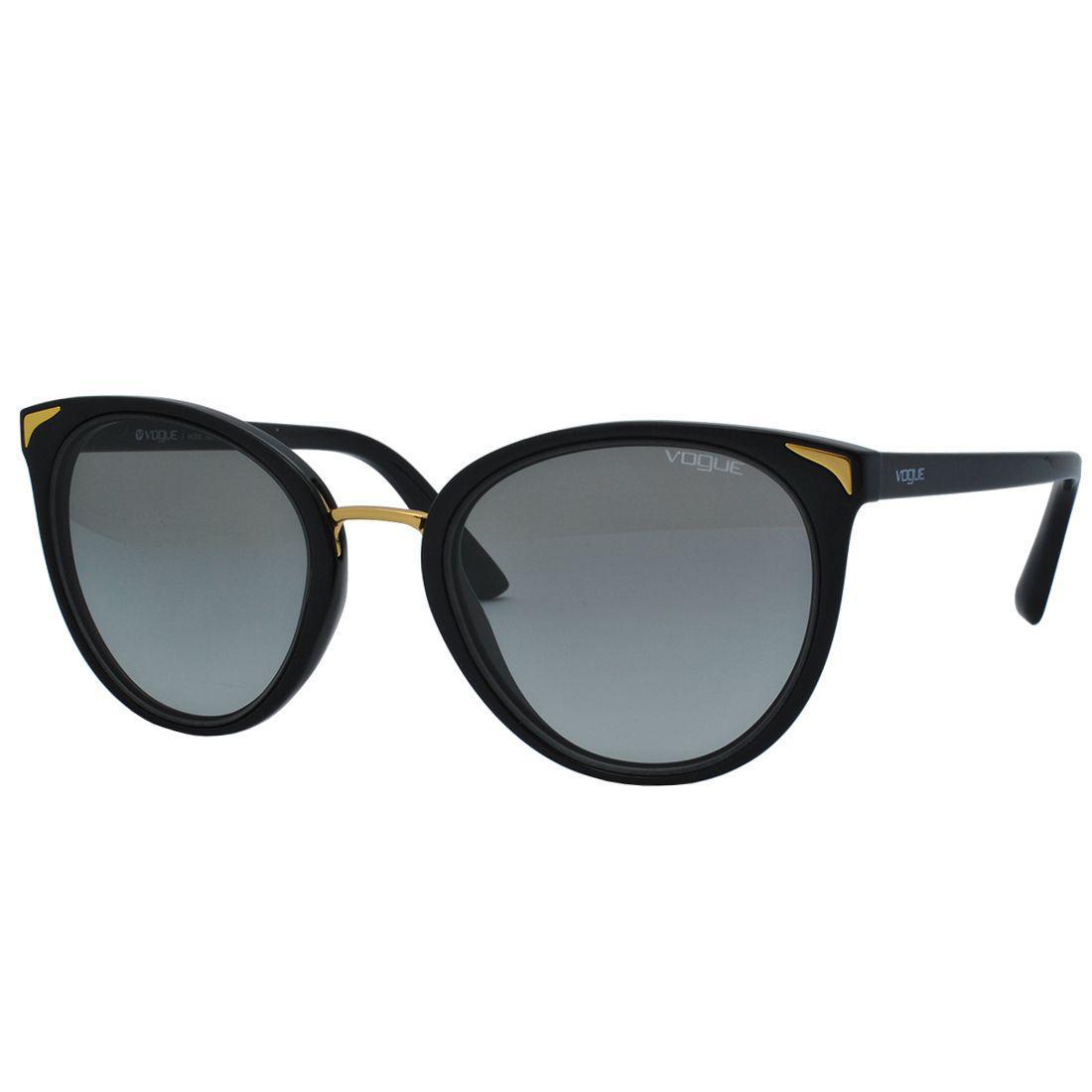 f07ac16e134b6 Óculos de Sol Vogue Feminino VO5230SL W44 11 - Acetato Preto e Lente Cinza R   456