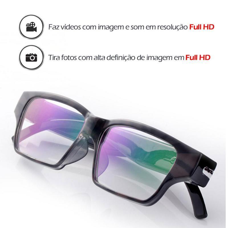 5d1c51f87 Óculos Detetive Gravador Espião e Vídeo em Looping 16GB - Empório forte R$  256,18 à vista. Adicionar à sacola