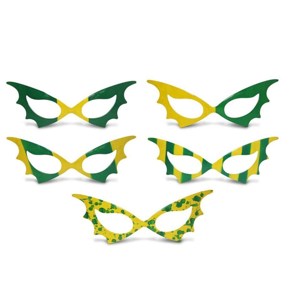 4d7f0f5b2d5b8 Óculos Gatinha sem Lente Desenhado Plástico Verde e Amarelo 12 unidades  Brasil - Festabox R  3,90 à vista. Adicionar à sacola