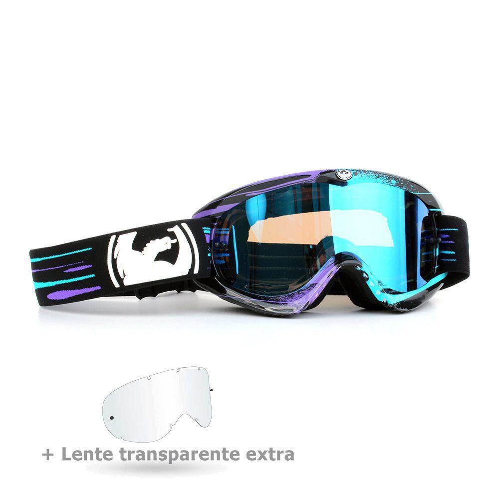 ee55522903bf0 Óculos Motocross Dragon MDX Paint Drip Preto E Azul - Lente Azul Espelhada  + Lente Transparente Produto não disponível