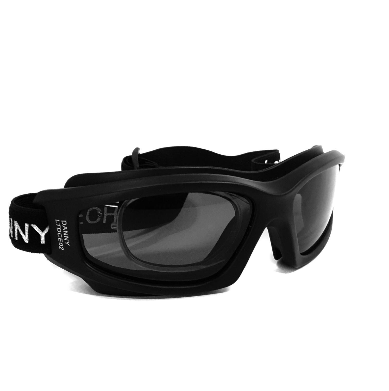 1f3863ff469d2 Óculos proteção esportivo danny fume clipe interno p lentes de grau ideal  ciclismo futebol voley paraquedismo paintball R  96