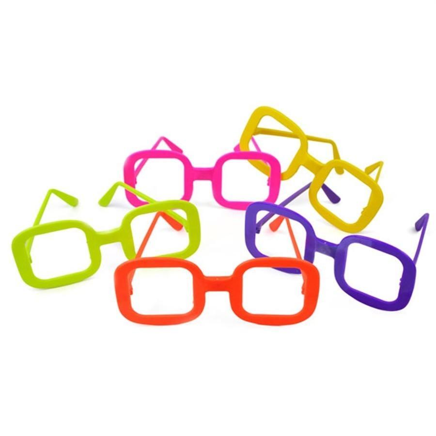 d748682e9 Óculos Quadrado Colorido Sem Lente 10 unidades - Festabox R$ 19,90 à vista.  Adicionar à sacola