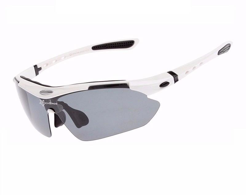 7bf009f79adb8 Óculos Sol Bike Bicicleta Ciclismo Rockbros Polarizado 5 Lentes (apenas 1 é  polarizado) Branco R  100