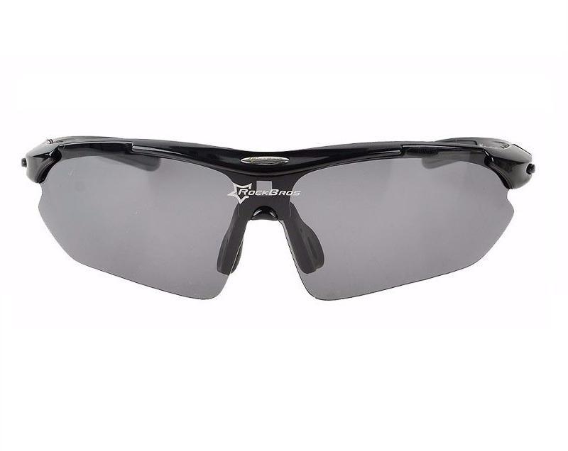 974e750a98850 Óculos Sol Bike Bicicleta Ciclismo Rockbros Polarizado 5 Lentes (apenas 1 é  polarizado) Preto R  100