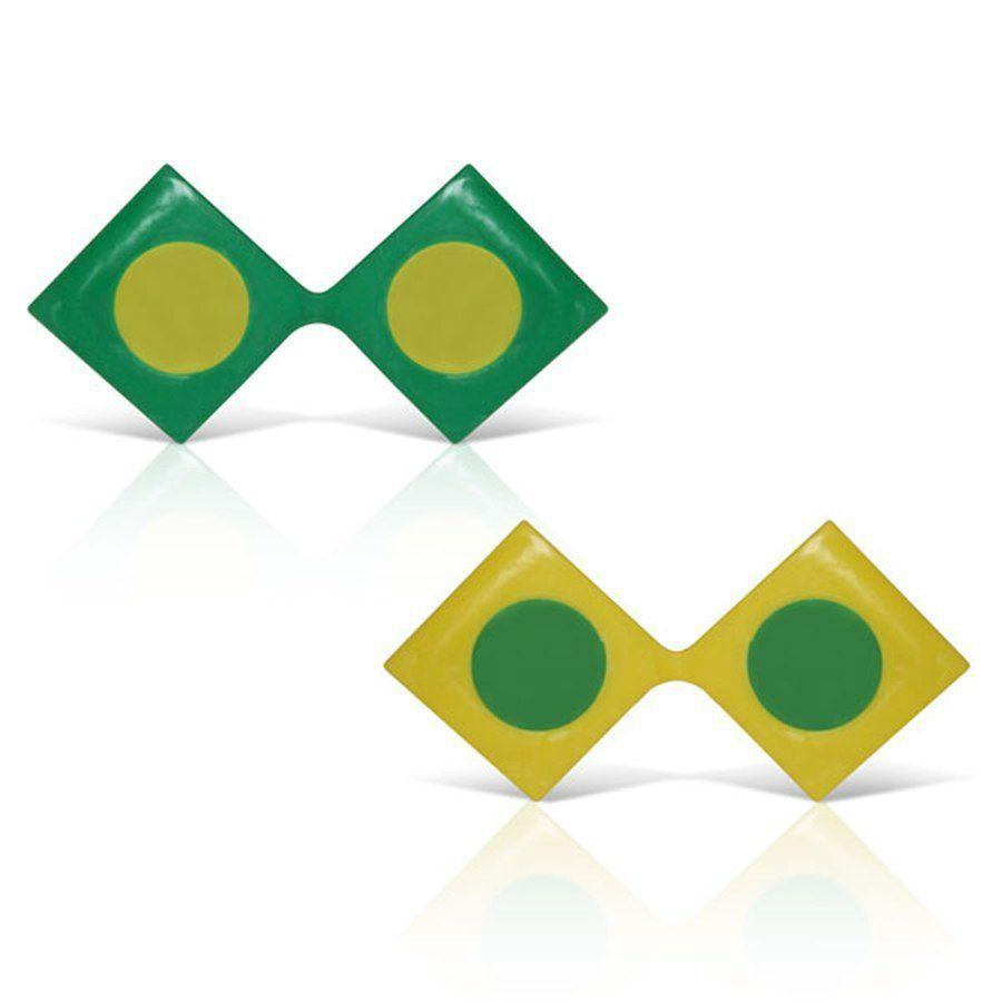 Óculos Triângulo Verde e Amarelo 12 unidades Brasil - Festabox - Óculos de  Festa - Magazine Luiza