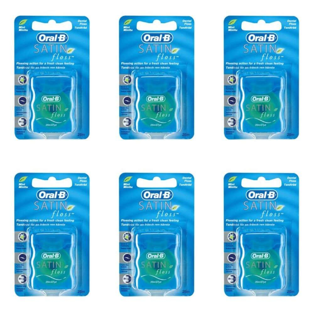 a2960cab5 Oral B Satin Floss Fio Dental 25m (Kit C 06) - Fio Dental - Magazine ...