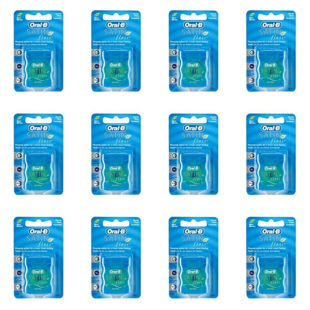 5c5cd2c12 Oral B Satin Floss Fio Dental 25m (Kit C 12) - Fio Dental - Magazine ...