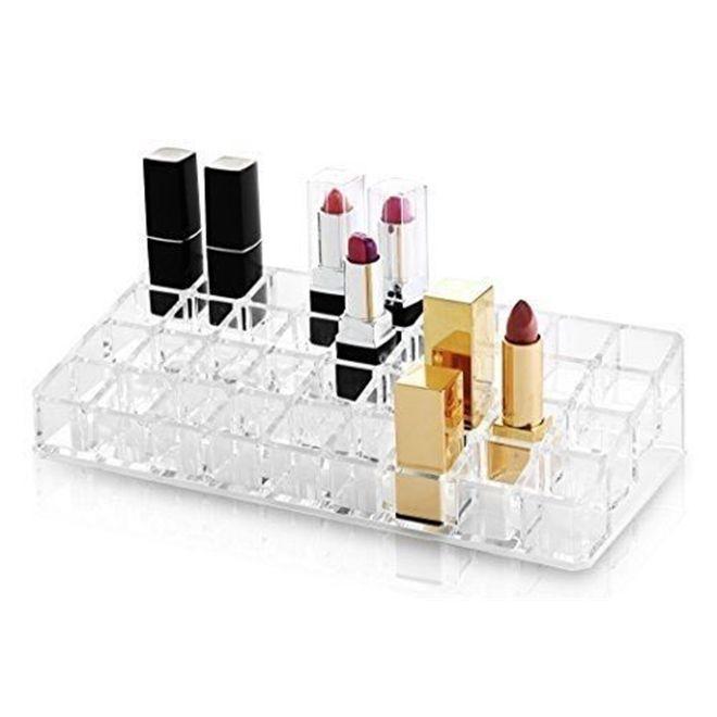 aeea70226a1 Organizador porta maquiagem caixa de acrilico maleta com 36 divisorias para  cosmeticos esmaltes bato - Gimp