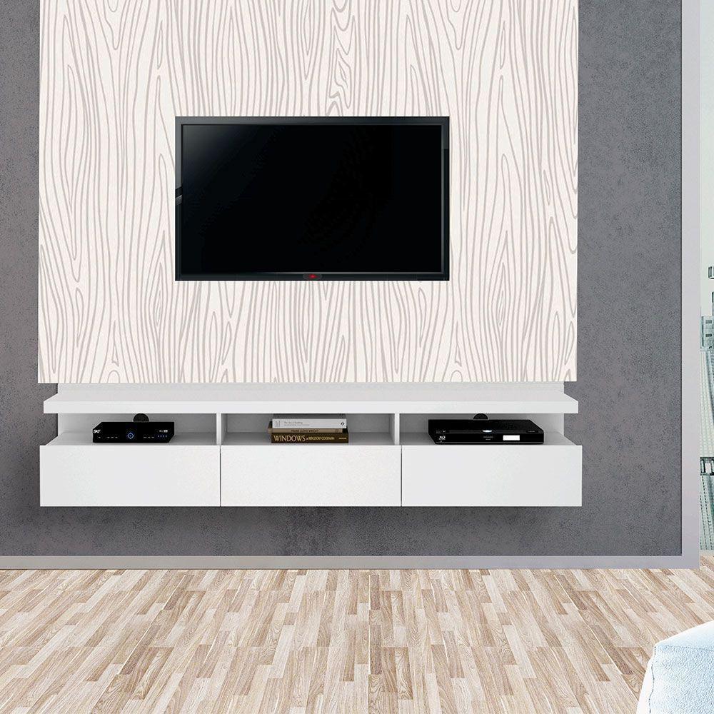 Painel Autoadesivo para Tv Lavável Textura Madeira Nude