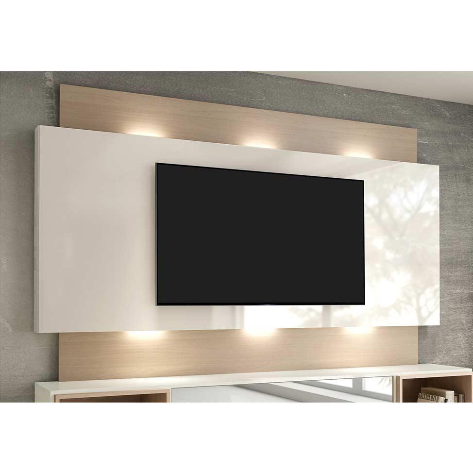 6e595b28ef47f Painel para TV 58 Polegadas com Led Morisot II Off White e Natural - Dalla  costa R$ 712,07 à vista. Adicionar à sacola