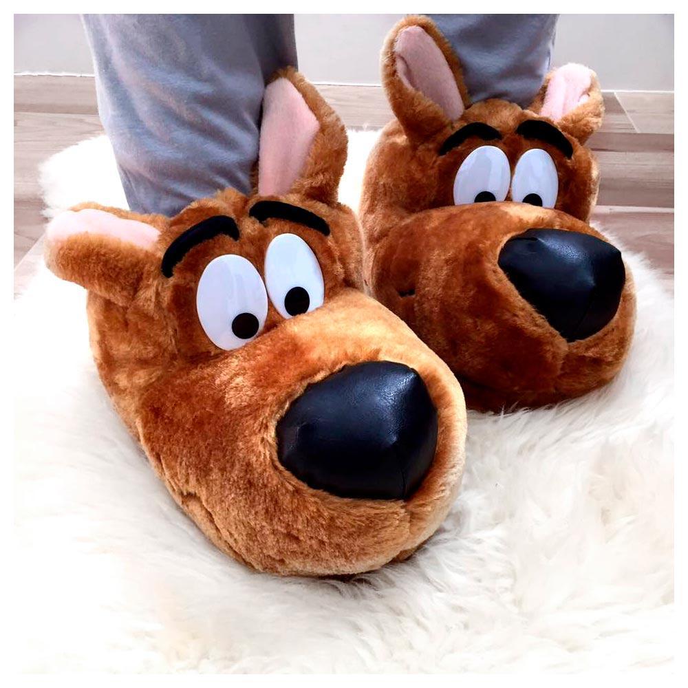 a8d73be59eba6c Pantufa Scooby-Doo Ricsen de Pelúcia Fechada Unissex 3D 37/39 Marrom ...
