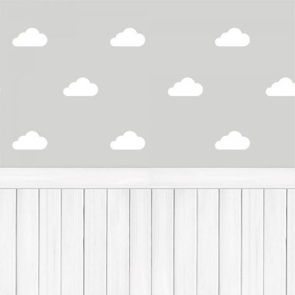 0ea2f0165 Papel de Parede Adesivo Nuvens com Madeira - Stickdecor - Adesivo e ...