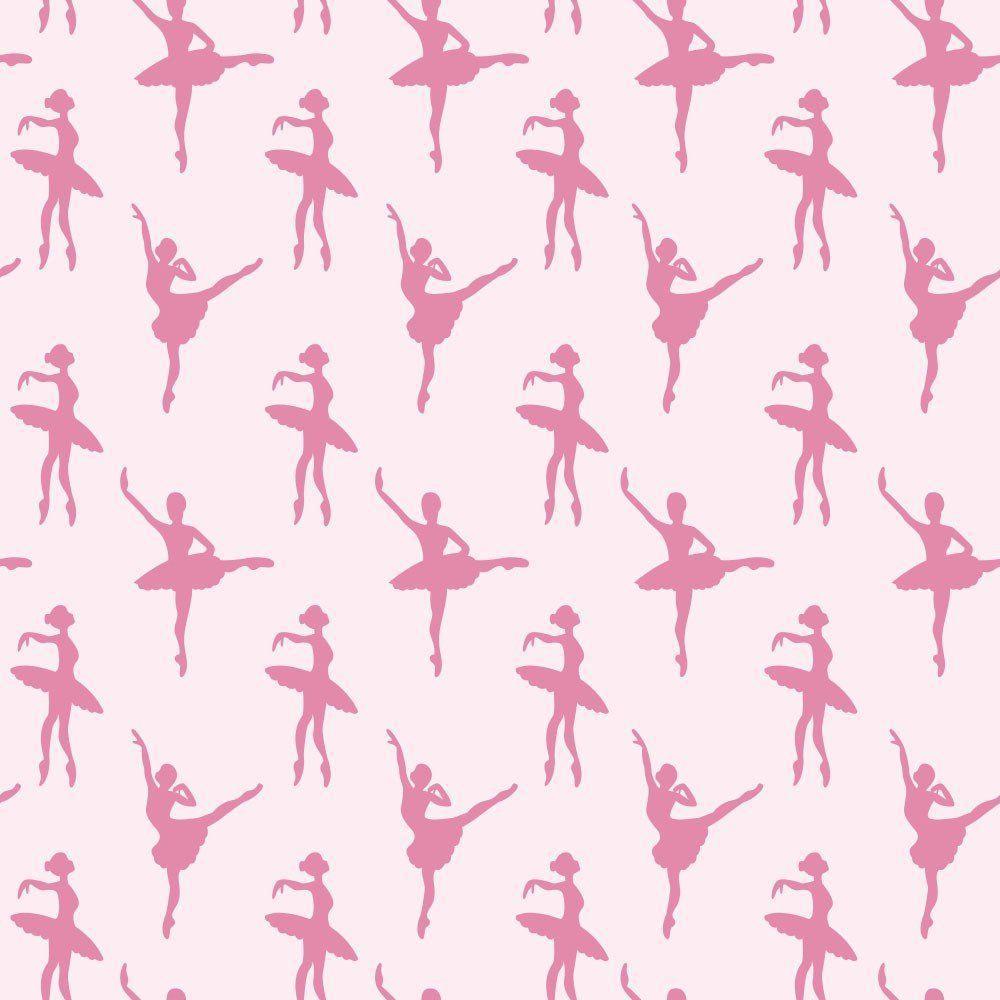 75fe5933ae Papel de Parede Ballet Pink - Qcola - Adesivo e Papel de Parede ...